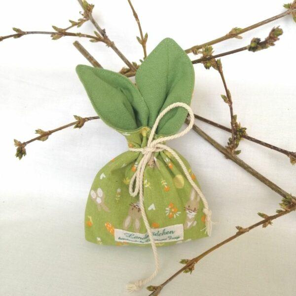 Osterhasensäckchen zum Befüllen mit Süßigkeiten und kleinen Geschenken.